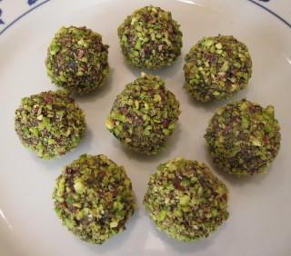 tartufini pistacchi