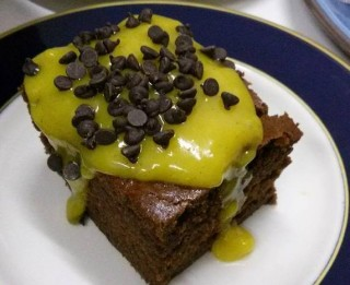 torta cacao zafferano